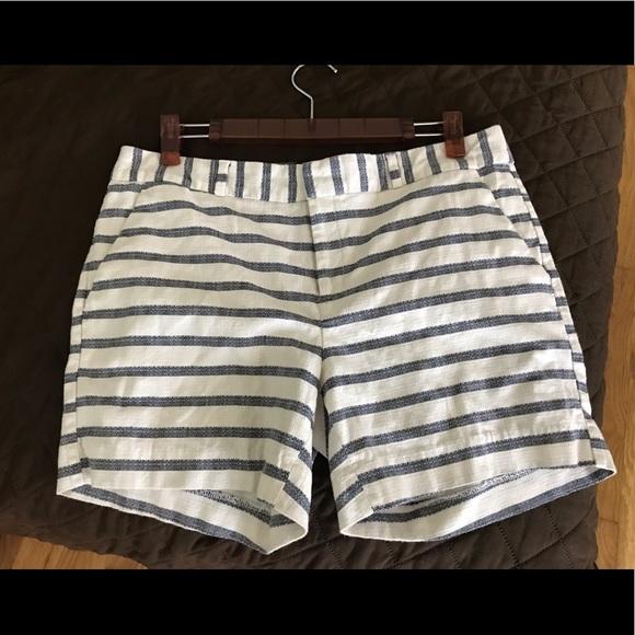 Banana Republic Pants - SOLD Banana Republic striped blue white shorts.
